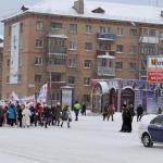 Шествие Дедов Морозов и праздник у Дворца культуры 25.12.2010